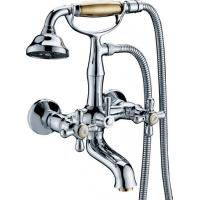 Buy cheap Two Hole Traditional Bath Mixer Taps , Double Handle Tub Faucet from wholesalers