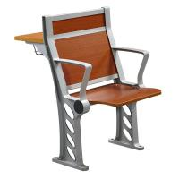 Buy cheap Cherry Wood Armed College Classroom Furniture / Student Chair With Fixed Table Desk from wholesalers