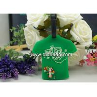 Buy cheap T-shirt shape pvc luggage tag custom personalized fashion boarding travel luggage tag supply from wholesalers