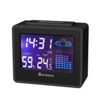Buy cheap 12/24 Hour time display digital thermometers BY-3408 with alarm and snooze, LED backlight product