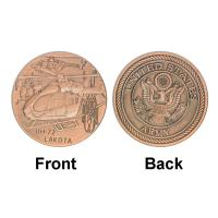Buy cheap Army UH - 72 LAKOTA Plane Military Brass Plated Commemorative Coins For Gifts from wholesalers