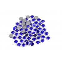 Buy cheap 12 / 14 Facets Rimmed Rhinestones Lead Free Round Shape For Nail Art / Shoes product