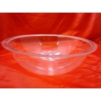 Buy cheap Eco-friendly Round Bottom Clear Acrylic Bowl 280 / 250 * 110mm product