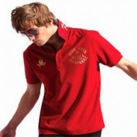 Buy cheap Men's Polo T-shirt, Sportswear, OEM Orders are Accepted from wholesalers