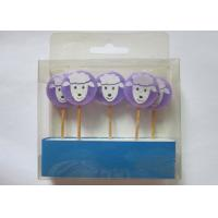 Buy cheap Purple Birthday Gift Wax Pick Candles , Lovely Sheep Shape Paraffin Candle from wholesalers