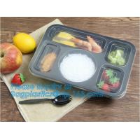 Buy cheap 3 compartment plastic food storage Microwave Freezer Safe Plastic Disposable lunch box,Fast food container disposable ta from wholesalers