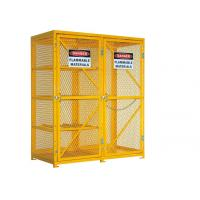6 Feet Two Door Outdoor Propane Storage Cage , Gas Cylinder Storage Box Anticorrosive