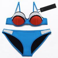 Buy cheap Women Real Neoprene Classic Design Padded push up bikini set Swimwear from wholesalers