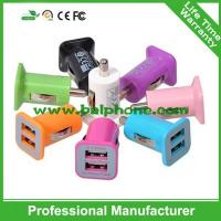 Buy cheap Portable mini car charger dual usb for mobile phone from wholesalers