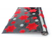 Buy cheap Factory Directly Wholesale Flocking Snowflake Flower Design Flocked Gift Wrapping Paper Roll from wholesalers