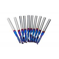 Buy cheap High Proformance Tungsten Carbide End Mill One Flute With Blue NACO Coated from wholesalers