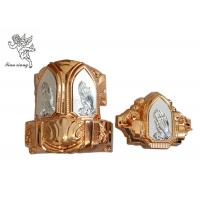 Copper And Silver Casket Accessories With Praying Hands , Casket Hardware Suppliers