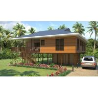 Buy cheap Heat Insulation Prefab Home Beach Bungalows , Customized Light Steel Bungalow from wholesalers