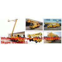 Buy cheap customized best price ISUZU brand 4*2 LHD double cabs 16m aerial lift boom vehicle, bucket truck for Myanmar for sale from wholesalers