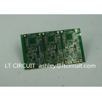 Buy cheap 6 Layer Green Printed Circuit Board FR4 with V Groove White Silkscreen from wholesalers