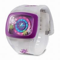 Buy cheap Silicone Watch with Novel Design, Customized Logos Welcomed, OEM Orders Welcomed product