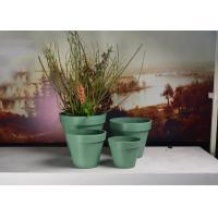 Buy cheap Fashionable Office Desk Plant Pot , Plain Aging - Resistant Herb Flower Pots product