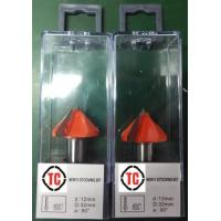 Buy cheap Orange Router Bit 90 Degree V Grooving Bits 2 Flute Size 12*32mm from wholesalers
