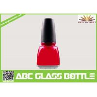 Buy cheap 12ml square empty glass nail polish bottles with caps and brush product