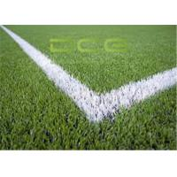 Buy cheap PE Material Football Field Artificial Grass 50mm Pile Height OEM from wholesalers