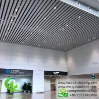 Buy cheap White Fireproof Aluminum Ceiling Tiles , Aluminum Perforated Ceiling  Strip  Type  Interior Exterior Powder Coated from wholesalers