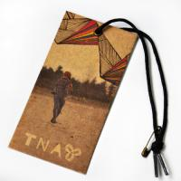 Recycled Craft Paper Clothing Hang Tags With Cotton String For Cow Boy Jeans