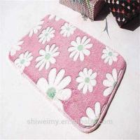 Buy cheap Soft embossed pattern coral fleece door mat from wholesalers