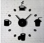 Buy cheap Living room modern artistic personality DIY acrylic clock digital mirror wall clock from wholesalers