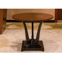 Buy cheap Black Round Modern Wood Coffee Tables , Oak Solid Wood Coffee Table from wholesalers