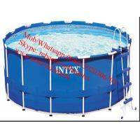 Buy cheap intex metal round shape above groun frame pool frame pool Commercial Inflatable Frame Pool from wholesalers