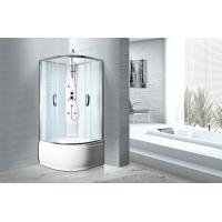 White ABS Tray Chrome Profiles Bathroom Shower Cabins 900 X 900 X 2350 mm