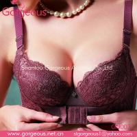 Buy cheap Pretty body shape cotton front hook bra from wholesalers