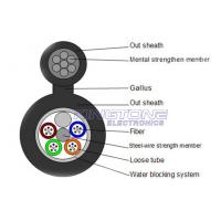 Buy cheap GYXTC8S 13.5 mm 4 Core Fiber Optic Cable with IEC 60794-1 Standard , Black from wholesalers