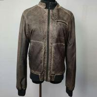 Buy cheap Retro Ladies Short Leather Jacket / Coat Custom Service Acceptable product