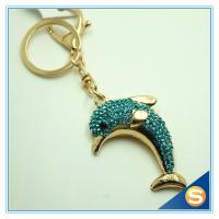 Buy cheap Novelty  Dolphin Shape Crystal Lovely Metal Key Chains Women Bag Accessories from wholesalers
