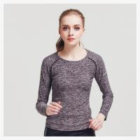 Buy cheap Fashion Appearance Womens Long Sleeve Sports Top 85% Polyester / 15% Spandex Material from wholesalers