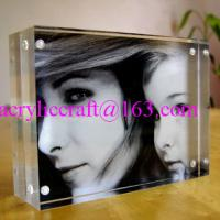 Buy cheap 4x6 inch wedding frameless clear acrylic photo frame plexiglass photo holder from wholesalers
