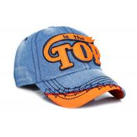 Buy cheap Women / Men Embroidery Denim Baseball Cap 6 Panel Fashion Style For Daily Decoration from wholesalers