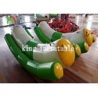 Buy cheap Green / White Single / Double Tube 0.9mm PVC Inflatable Water Toy / Totter / from wholesalers