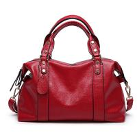 Buy cheap Red Ladies Real Leather Handbags 38*29*13 Cm Adjustable Shoulder Strap from wholesalers