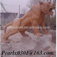 Buy cheap Pink marble tiger sculpture from wholesalers