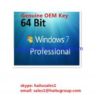 Buy cheap Microsoft Windows Product Key Windows 7 Professional OEM Key 32 / 64Bit from wholesalers