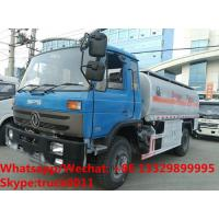 Buy cheap Factory customized dongfeng 4*2 RHD 10,000L gasoline tank delivery truck for sale,cheapest dongfeng 10m3 fuel tank truck from wholesalers