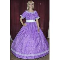 Buy cheap Wholesale CIVIL WAR VICTORIAN DICKENS SOUTHERB BELLE SASS Purple Print Costume Dress Gown product