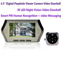 Buy cheap 4.3 LCD Electronic Door Peephole Viewer Camera Home Security DVR Night Vision Video Doorbell Door Phone Access Control from wholesalers