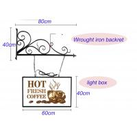 Buy cheap Hanging Sign Bracket Vacuum Forming Light Box Vintage Style With Double Sides Display from wholesalers