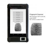 Buy cheap HFSecurity FP07P ODM/OEM  Dual SIM Biometric Tablet Fingerprint Handheld Terminal With FBI Certificated Scanner from wholesalers