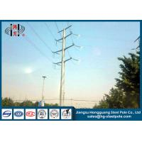 Buy cheap 50FT 2 Sections 69KV Electrical Power Transmission Pole With Galvanization / Bitumen from wholesalers