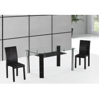 Buy cheap cheap but high quality chromed-plated tempered glass dining table T046 from wholesalers