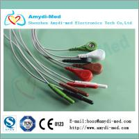 Buy cheap 5 lead din style holter ECG cable leadwires product